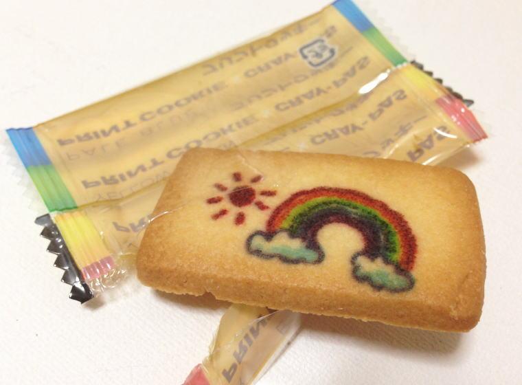 サクラクレパス プリントクッキー 虹柄