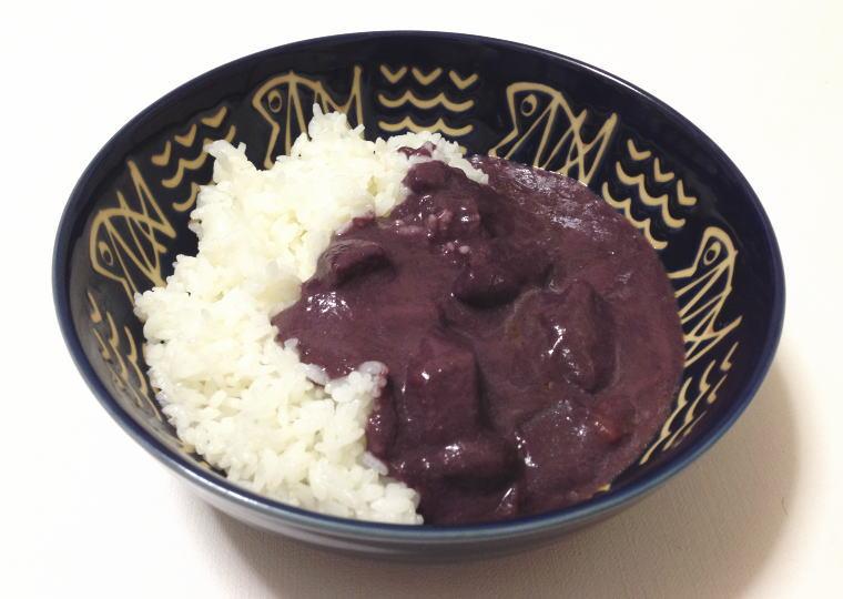 『北海道ハスカップカレー』 ご飯にかけてみた