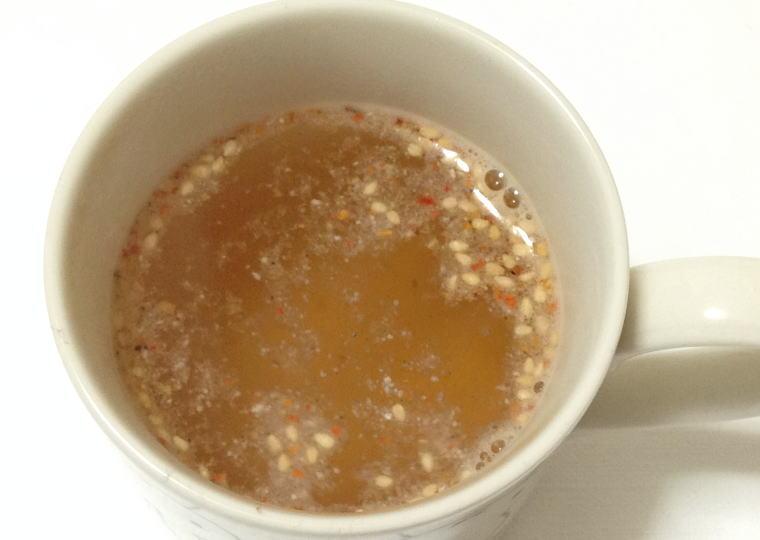 『ピリ辛ごぼうのスープ』 お湯を入れたところ