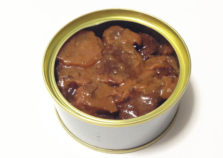 『熊肉大和煮』缶開封